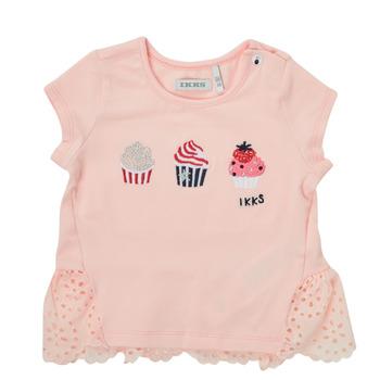 tekstylia Dziewczynka T-shirty z krótkim rękawem Ikks DANIA Różowy