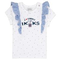 tekstylia Dziewczynka T-shirty z krótkim rękawem Ikks HILONA Biały