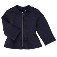 tekstylia Dziewczynka Swetry rozpinane / Kardigany Ikks ANE Marine
