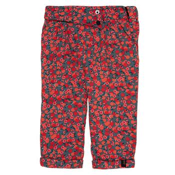 tekstylia Dziewczynka Legginsy Ikks MARGA Szary / Czerwony