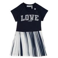 tekstylia Dziewczynka Sukienki krótkie Ikks POELA Marine