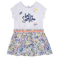 tekstylia Dziewczynka Sukienki krótkie Ikks NIKLO Biały