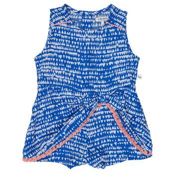tekstylia Dziewczynka Kombinezony / Ogrodniczki Ikks BEO Niebieski