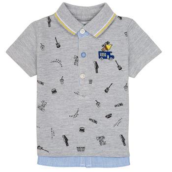 tekstylia Chłopiec Koszulki polo z krótkim rękawem Ikks MAELYS Szary