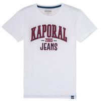 tekstylia Chłopiec T-shirty z krótkim rękawem Kaporal ERNIE Biały