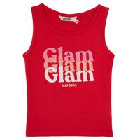 tekstylia Dziewczynka Topy na ramiączkach / T-shirty bez rękawów Kaporal JUIN Czerwony