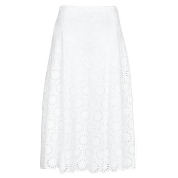 tekstylia Damskie Spódnice MICHAEL Michael Kors FLORAL EYLT LNG SKIRT Biały