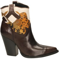 Buty Damskie Botki Oasi Private Collection STIVALETTI tequila-senape-bianc