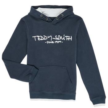 tekstylia Chłopiec Bluzy Teddy Smith SICLASS Niebieski