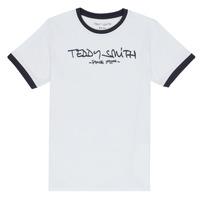 tekstylia Chłopiec T-shirty z krótkim rękawem Teddy Smith TICLASS 3 Biały