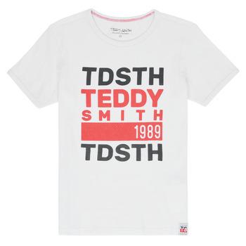 tekstylia Chłopiec T-shirty z krótkim rękawem Teddy Smith DUSTIN Biały