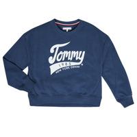 tekstylia Dziewczynka Bluzy Tommy Hilfiger KG0KG04955 Marine