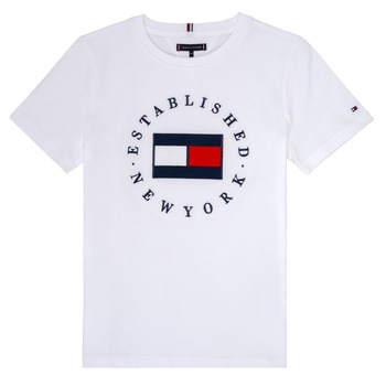 tekstylia Chłopiec T-shirty z krótkim rękawem Tommy Hilfiger KB0KB05718 Biały