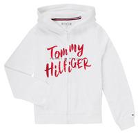 tekstylia Dziewczynka Bluzy Tommy Hilfiger KG0KG05043 Biały