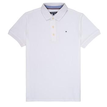 tekstylia Chłopiec Koszulki polo z krótkim rękawem Tommy Hilfiger KB0KB03975 Biały