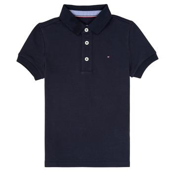 tekstylia Chłopiec Koszulki polo z krótkim rękawem Tommy Hilfiger  Marine