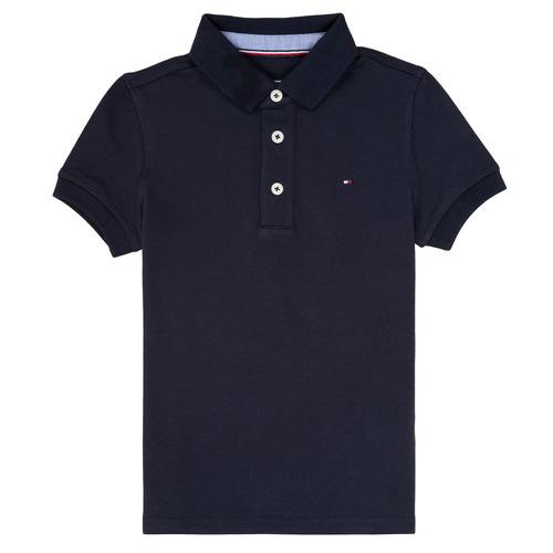 tekstylia Chłopiec Koszulki polo z krótkim rękawem Tommy Hilfiger KB0KB03975 Marine