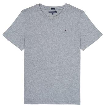 tekstylia Chłopiec T-shirty z krótkim rękawem Tommy Hilfiger KB0KB04140 Szary