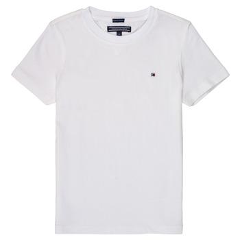tekstylia Chłopiec T-shirty z krótkim rękawem Tommy Hilfiger KB0KB04140 Biały