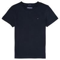 tekstylia Chłopiec T-shirty z krótkim rękawem Tommy Hilfiger KB0KB04140 Marine