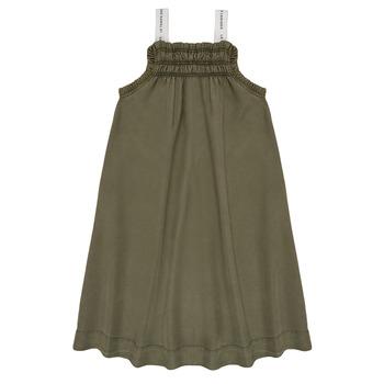 tekstylia Dziewczynka Sukienki krótkie Le Temps des Cerises BIJA Kaki