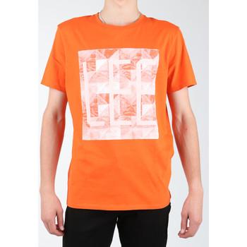 tekstylia Męskie T-shirty i Koszulki polo Lee T-shirt  Logo Tee L63GAIMO pomarańczowy