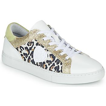 Buty Damskie Trampki niskie Philippe Morvan FURRY Biały / Leopard / Glitter