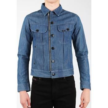tekstylia Męskie Kurtki / Blezery Lee Kurtka jeansowa  X Biker Rider L887DNXE niebieski