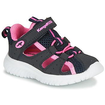 Buty Dziewczynka Sandały Kangaroos KI-Rock Lite EV Niebieski / Różowy