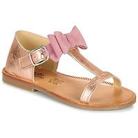 Buty Dziewczynka Sandały Citrouille et Compagnie MELINDA Różowy / Gold