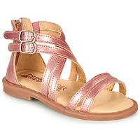 Buty Dziewczynka Sandały Citrouille et Compagnie IMOURAT Różowy / Gold