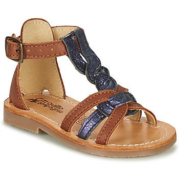 Buty Dziewczynka Sandały Citrouille et Compagnie GITANOLO Marine / Camel
