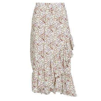 tekstylia Damskie Spódnice Betty London  Biały / Czerwony