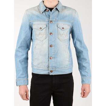 tekstylia Męskie Kurtki jeansowe Wrangler Kurtka jeansowa  Denim Jacket W458QE20T niebieski