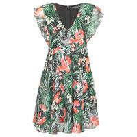 tekstylia Damskie Sukienki krótkie Guess EULALIA DRESS Czarny / Zielony
