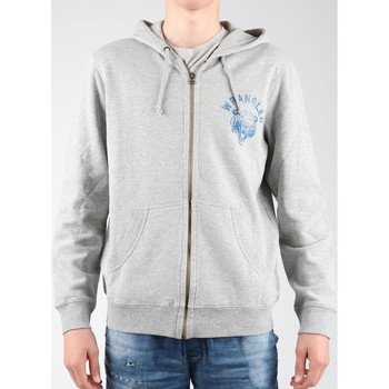 tekstylia Męskie Polary Wrangler Bluza z kapturem  Hoodie Zip Sweat W6497JE37 szary