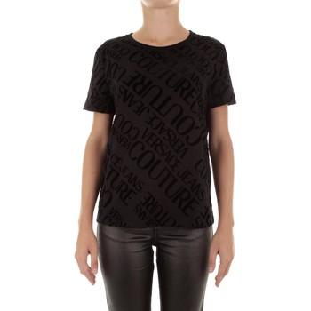 tekstylia Damskie T-shirty z krótkim rękawem Versace B2HUB728 Czarny