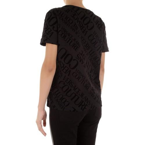 Versace B2hub728 Czarny - Tekstylia T-shirty Z Krótkim Rękawem Damskie 34379 Najniższa Cena