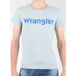 tekstylia Męskie T-shirty z krótkim rękawem Wrangler T-shirt  S/S Graphic Tee W7A64DM3E szary