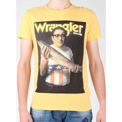 tekstylia Męskie T-shirty z krótkim rękawem Wrangler T-shirt  S/S Graphic T W7931EFNG żółty
