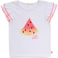 tekstylia Dziewczynka T-shirty z krótkim rękawem Billieblush / Billybandit NARI Biały