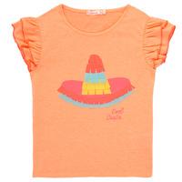 tekstylia Dziewczynka T-shirty z krótkim rękawem Billieblush / Billybandit NORE Pomarańczowy