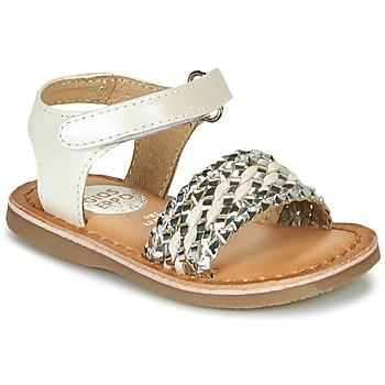 Buty Dziewczynka Sandały Gioseppo VARESE Biały / Srebrny