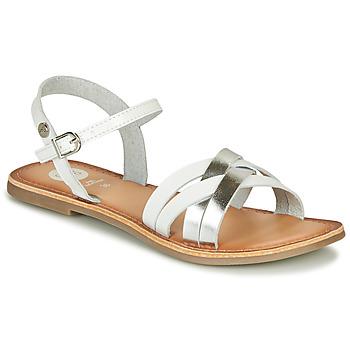 Buty Dziewczynka Sandały Gioseppo GISTEL Biały / Srebrny