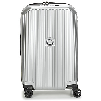 Torby Walizki twarde Delsey SECURITME ZIP 55 CM 4 DOUBLE WHEELS TROLLEY Argenté