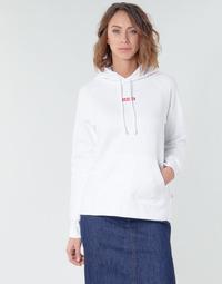 tekstylia Damskie Bluzy Levi's RAPHIC SPORT HOODIE BABY TAB HOODIE Biały