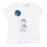 tekstylia Dziewczynka T-shirty z krótkim rękawem Lili Gaufrette NALIOS Biały