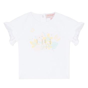 tekstylia Dziewczynka T-shirty z krótkim rękawem Lili Gaufrette NALIS Biały