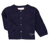 tekstylia Dziewczynka Swetry rozpinane / Kardigany Lili Gaufrette NANETTE Marine