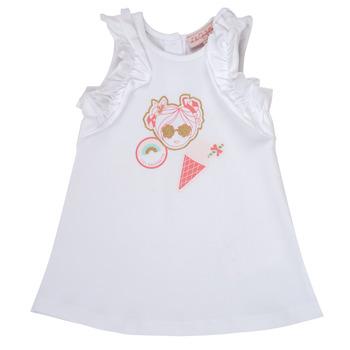tekstylia Dziewczynka Sukienki krótkie Lili Gaufrette NAVETTE Biały